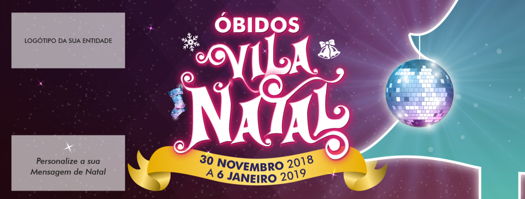 Obidos Vila Natal cartao personalizavel